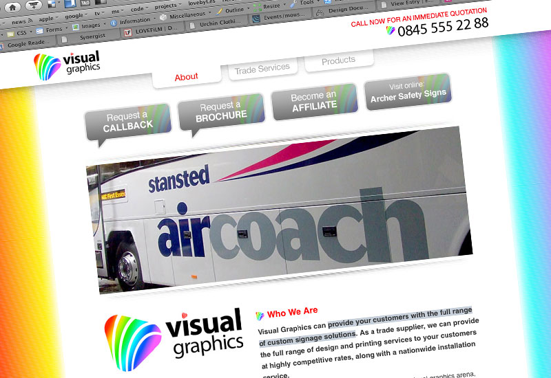 websites : visual website for visual graphics